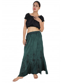 04 Peasant Bohemian Full Length Gypsy Skirt