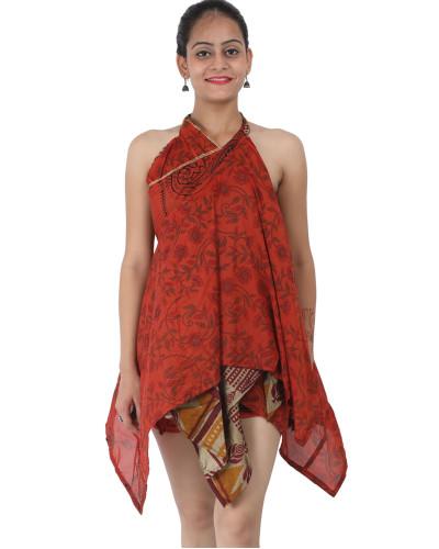 "05 Skirt Medium Height Art Silk Sari Diamond Cut skirts 30"""