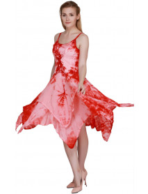 05 Women's Sleeveless Tie Dye Casual Maxi Party Dress