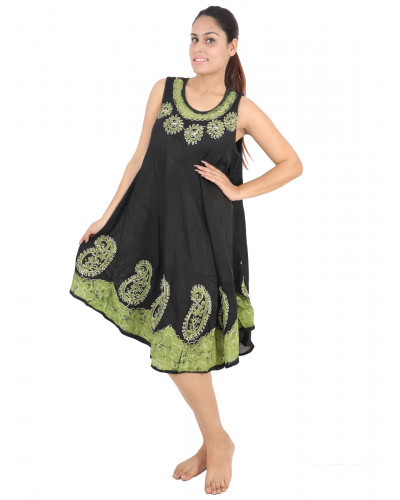 100 Ladies Embroidered Sleeveless Floral Dress Clearence