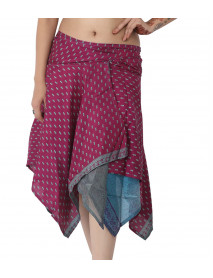 10 Diamond cut American Junglee wrap skirt small