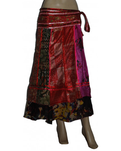 10 Long Bohemian Wrap Around Art Silk Skirts
