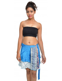 "10 magic wrap skirt mini 16"" ethically made"