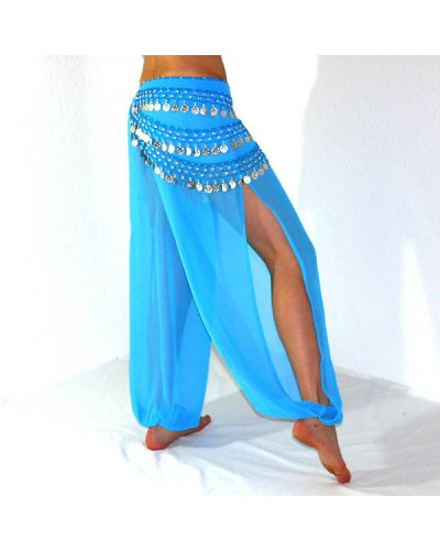 10 Oriental Belly Dance Coin Harem Pants