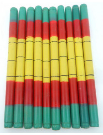 10 Pair Wooden Decorative Dandiya Sticks for Garba