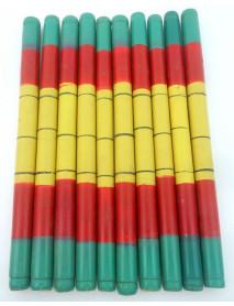 10 Pair Wooden Decorative Dandiya Sticks for Garba