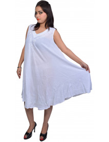 10 Plain White (Only) Sleeveless Dress