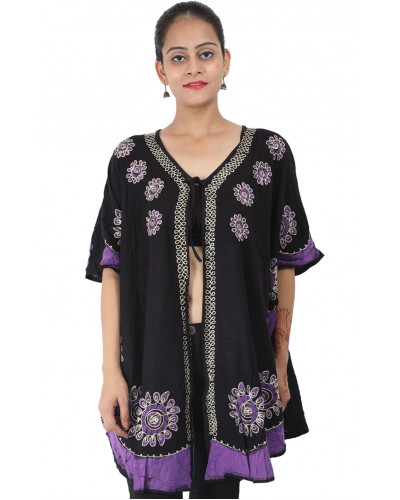 10 Rayon Cover Up Front Open Dress XL Size
