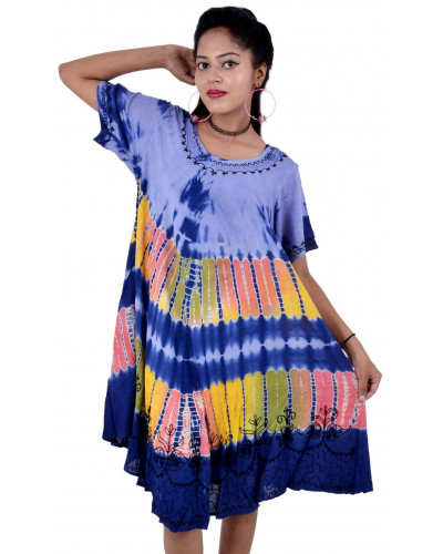 10 Rayon Summer Dress with sleeves new casual