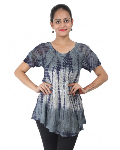 10 Women's Short Sleeve Casual Floral Printed Top
