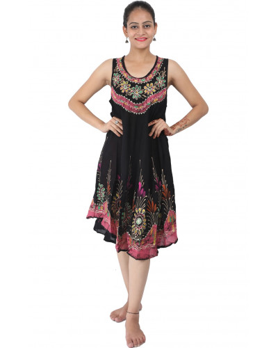 10 Womens Batik Dresses below Knee Length
