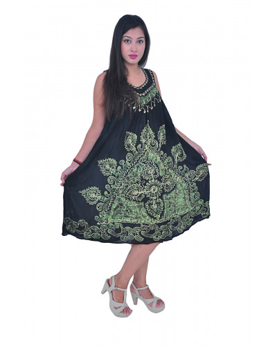 100 Batik Tunic Bouquet Dress