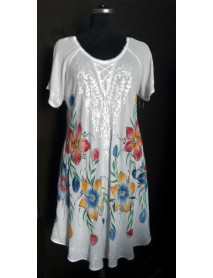 100 Beach Cocktail Party White Rayon Coverup Dress