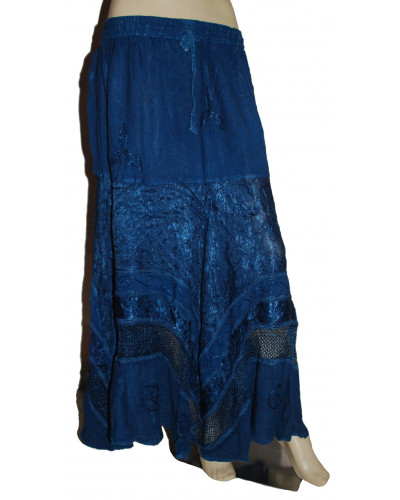 100 Blue Denim Maxi Long Skirt for Women