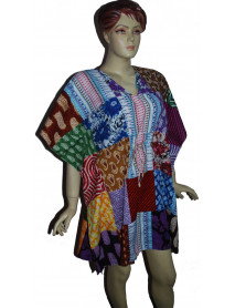 100 Casual women poncho Kaftan Patch