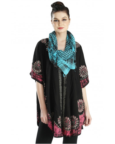 100  Wevez Ladies Embroidery Poncho summer Tops Clearence