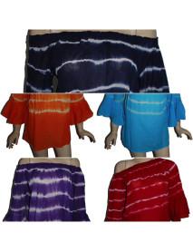 100 Wholesale Bali Long Sleeve Womens Tie Dye Tunic Tops