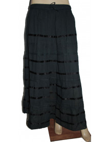 05 Cotton Ombre Dip Dye Long Skirt