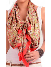 100 Wholesale Scarves For Women Paisely Silk Square Scarves