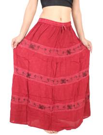 100 Womens Lightweight Floor Length Printed Maxi Skirts