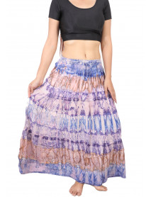 100 Womens Multicoloured Full Length Stretchable Maxi Skirts
