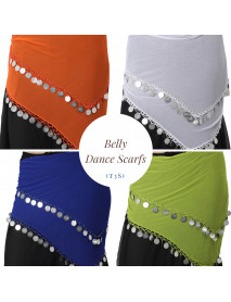 12 Belly dance Multi Color Scarves