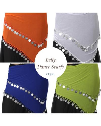 12 Belly dance Multi Color Scarves