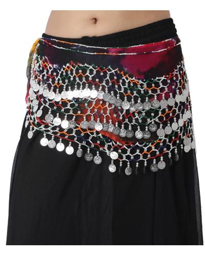 12 Women Belly Dance Hip Scarves for Egyptian Tribal dance