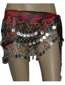 12 Women Belly Dance Hip Scarves for Egyptian Tribal dance