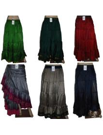 12 Yard Art Silk Belly Dance Skirt