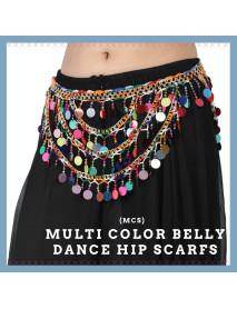 20 Pcs Multi Coin Design Tribal Belly Dance Hip Scarves Belt