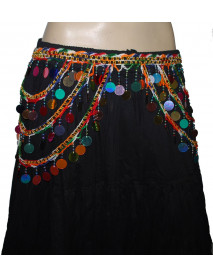 20 Pcs Multi Coin Design Tribal Belly Dance Hip Scarves Belt
