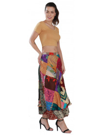 Wholesale Patch Wrap Skirts Made in India