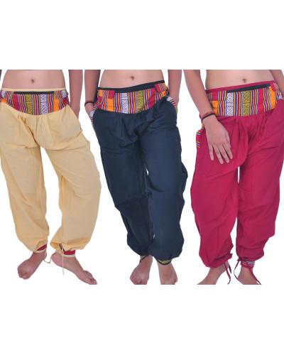 100 Rayon Nepali Style Harem Yoga Pant with Pockets
