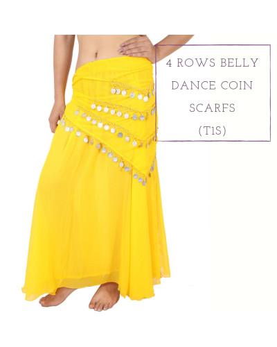 24 Belly Egypt Dance Hip Skirt Scarf Wrap Belt for Costume