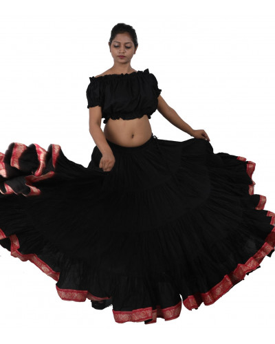 25 yard African Belly Dance Lace Skirt 10 Pcs