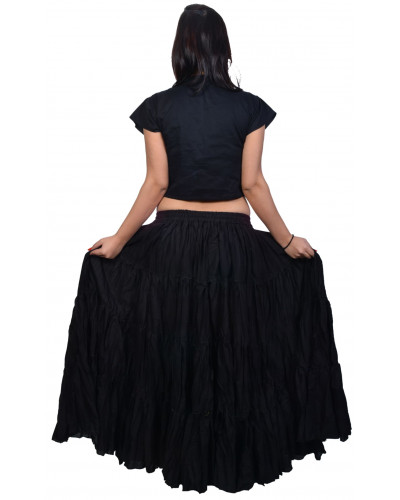 25 Yard black belly dance skirt
