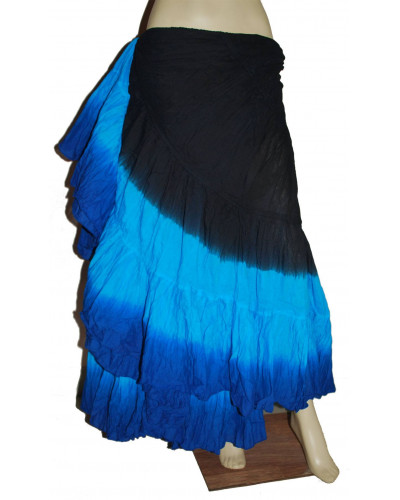 25 yard Gypsy Renaissance Belly Dancer Costume Skirt