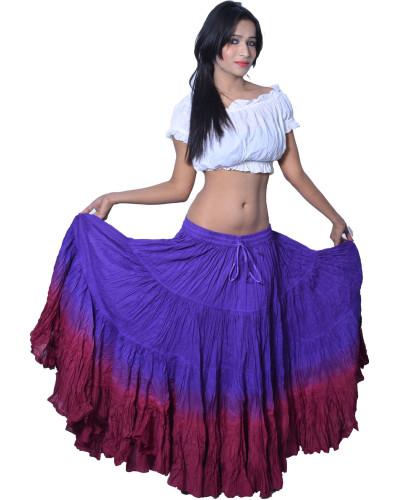 25 yard Tie Dye Tribal Gypsy Skirt