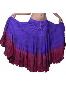 25 yard Tie Dye Tribal Gypsy Skirt