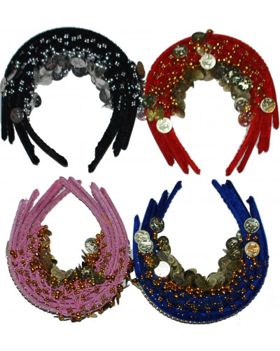 250 Egyptian Belly Dance Coined Head Band