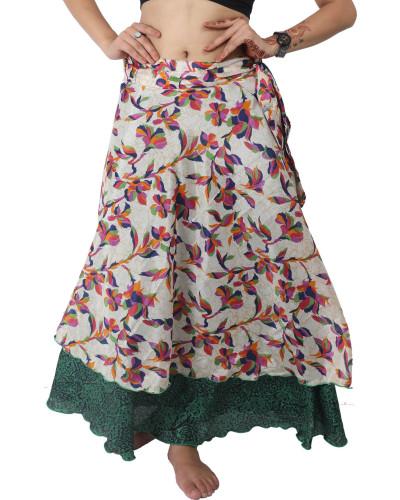 34XL Long 05 Reversible Style Vintage Magic Wrap Skirt