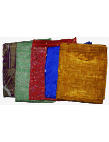 5 Artwork Vintage Indian Saree Fabric