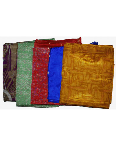 5 Artwork Vintage Indian Saree Fabric