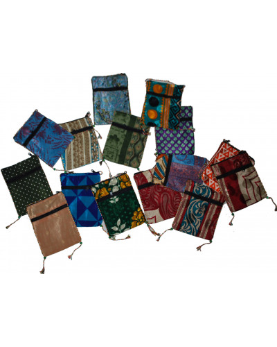 50 Assorted Color Passport Mobile Card Holder Pouch Case
