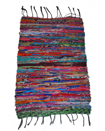 50 Recycled Handmade Multi Coloured Contemporary Rug / Mat