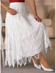 50 Wevez Boutique Crochet Long Flare Maxi Skirt