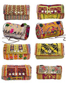 "50 Wholesale Vintage Designer Hand Crafted Clutch Wallet Purse 6""x9"""