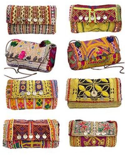 "50 Wholesale Vintage Designer Hand Crafted Clutch Wallet Purse 6""x9"""