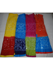 50 Women Jaipur Tribe  Bandhej Mirror Skirts